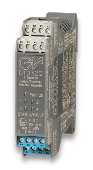 D1032Q - SIL 2 Switch/Proximity Detector Repeater Relay Output
