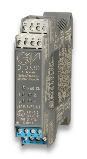 D1033Q - SIL 2 Switch/Proximity Detector Repeater Transistor Output