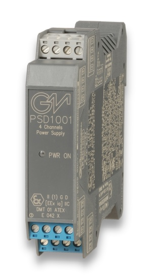 PSD1001 - SIL 3/SIL 2 Quad ch. Power Supply for Hazardous Area Equipment